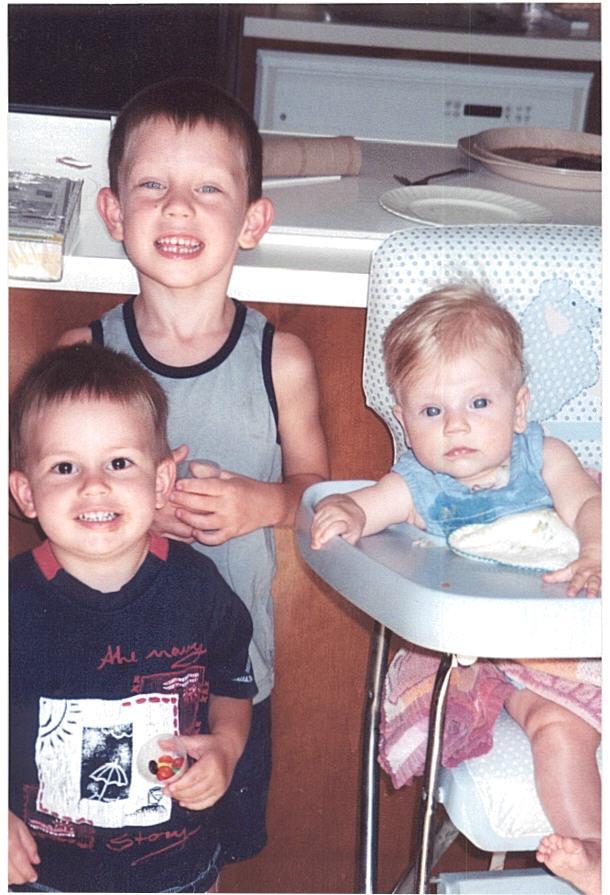 3 kids summer 2001 nassau point